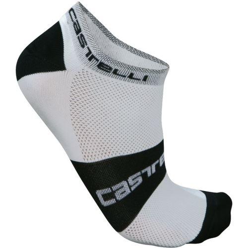 ponožky Castelli Lowboy White Black