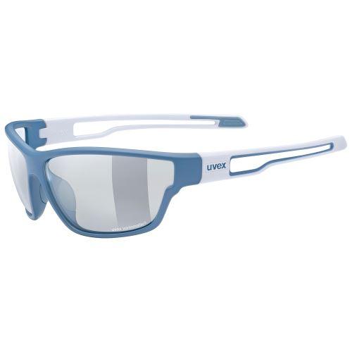 brýle UVEX Sportstyle 806 Vario Blue/White Mat
