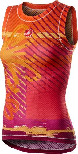 dámské spodní triko Castelli Pro Mesh Sleeveless Orange Flower
