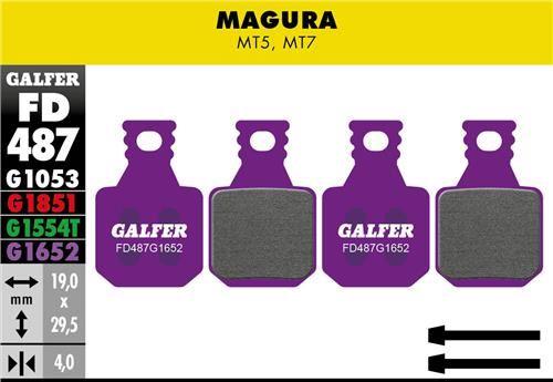 brzdové destičky Galfer FD487 Magura MT5, MT7 (e-bike purple)