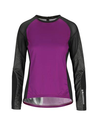 dámský dres s dlouhým rukávem ASSOS TRAIL  Women´s LS Jersey Cactus Purple