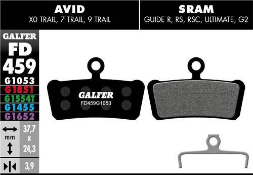 brzdové destičky Galfer FD459 Sram Guide (standard black)