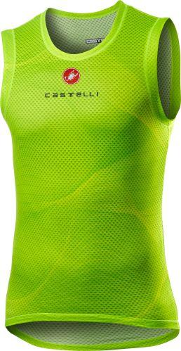 spodní triko Castelli Pro Mesh Sleeveless Yellow Fluo