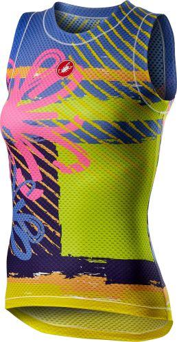dámské spodní triko Castelli Pro Mesh Sleeveless Pink Fluo Flower