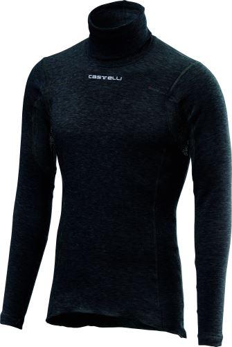 spodní triko s dlouhým rukávem Castelli Flanders Warm Neck Black