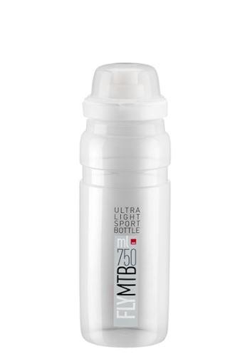 bidon Elite Fly MTB 0,75l čirá/šedé logo