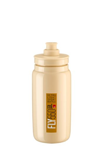 bidon Elite Fly 0,55l béžová/hnědé logo