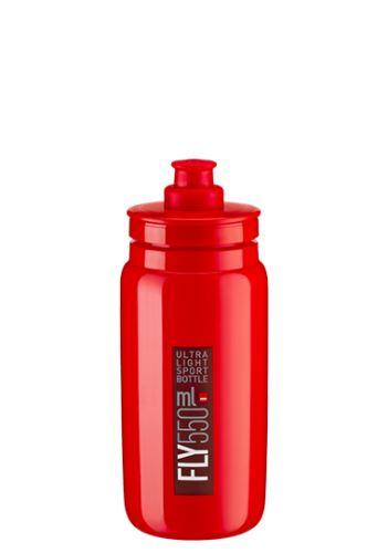 bidon Elite Fly 0,55l červená/bordeux logo