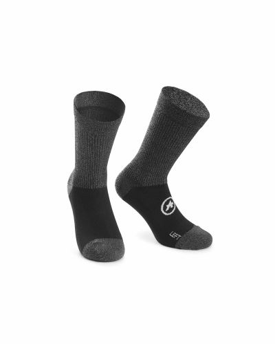 ponožky ASSOS TRAIL Socks Black Series
