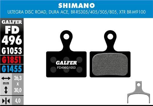 brzdové destičky Galfer FD496 Shimano, Ultegra Dura Ace (standard black)