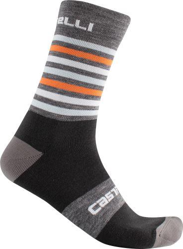 zimní ponožky Castelli Gregge 15 Dark grey/orange
